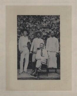 (Samuel) Lloyd Osbourne; Charles, Count of Wurmbrand-Stuppach; Robert Louis Stevenson; Tuimalealhfano, copy by John Moffat - NPG x4628