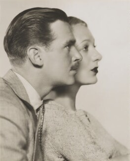 Douglas Fairbanks Jr; Gertrude Lawrence, by Dorothy Wilding, 1934 - NPG x46508 - © William Hustler and Georgina Hustler / National Portrait Gallery, London