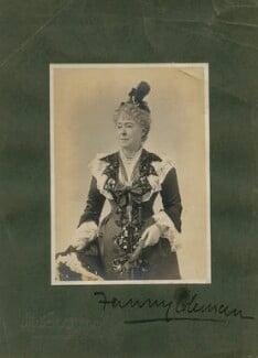 Fanny Coleman, by Alfred Ellis & Walery - NPG x46523