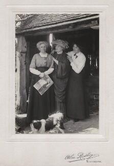 Probably Elizabeth Rumball (née Bocking); Ellen Terry; Rosemary ('Rosie') Nell Ann Craig, by Alex Ridley - NPG x46545