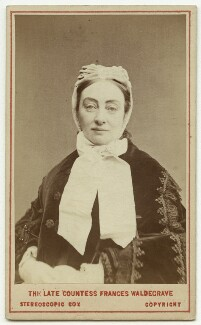 Frances Elizabeth Anne (née Braham), Countess Waldegrave, by London Stereoscopic & Photographic Company - NPG x46572