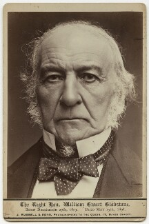 William Ewart Gladstone, by James Russell & Sons - NPG x46687