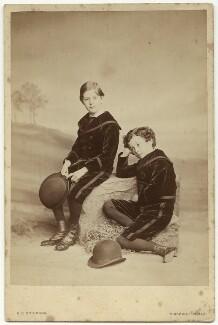 Sir John Hubert Ward; Hon. Robert Arthur Ward, by Henry Peach Robinson - NPG x47104