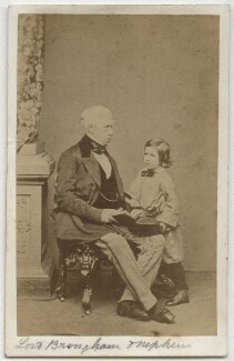 Henry Brougham, 1st Baron Brougham and Vaux with his nephew, by John Jabez Edwin Mayall - NPG x4721