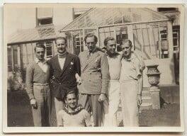 Guy Osborn; Budge Fraser; Arthur Jeffress; Eliot Hodgkin and friends, by Unknown photographer - NPG x47331