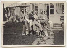 Budge Fraser; Eliot Hodgkin; Guy Osborn; Arthur Jeffress and friends, by Unknown photographer - NPG x47332