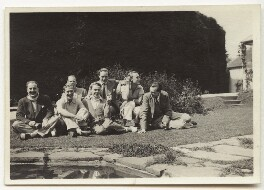 Guy Osborn; Budge Fraser; Eliot Hodgkin and friends, by Unknown photographer - NPG x47333