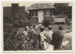 Arthur Jeffress; Budge Fraser; Guy Osborn; Eliot Hodgkin; and friends, by Unknown photographer - NPG x47335