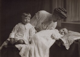 Ida Sherrard (née Coleman) with her sons, George William Eustace Sherrard and Michael Sherard (Malcolm Henry Sherrard), by Chaplin Jones - NPG x47337