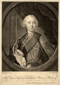King George III, by James Macardell, after  David Lüders, (1751) - NPG D10802 - © National Portrait Gallery, London