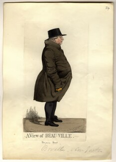 Benjamin Bovill ('A view of Beau-ville'), by and published by Richard Dighton, published 1824 - NPG  - © National Portrait Gallery, London
