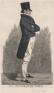 Thomas Massa Alsager ('The mirror of the Times'), by and published by Richard Dighton, published August 1823 - NPG  - © National Portrait Gallery, London