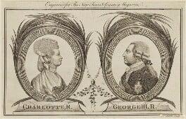 Charlotte of Mecklenburg-Strelitz; King George III, by George Noble - NPG D10816