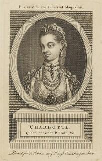Sophia Charlotte of Mecklenburg-Strelitz, after Thomas Frye, (1762) - NPG D10817 - © National Portrait Gallery, London