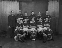 Manchester United Football Team in 1948 Cup Final Shirts, by Lafayette - NPG x49041