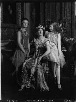 Lady Helen Maglona Walsh (née Vane-Tempest-Stewart); Edith Helen (née Chaplin), Marchioness of Londonderry; Lady Margaret Frances Anne Vane-Tempest-Stewart, by Lafayette (Lafayette Ltd), 7 February 1927 - NPG x49102 - © National Portrait Gallery, London