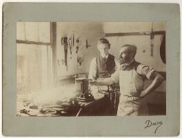 John Elliott Burns with an unknown colleague, by Dusa, 1888-1889 - NPG x4920 - © National Portrait Gallery, London
