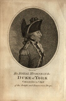 Frederick, Duke of York and Albany, by J. Pass - NPG D10819