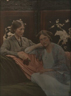 Katharine Legat (née Edis); Emmeline McKendrick (née Edis), by (Mary) Olive Edis (Mrs Galsworthy), 1910s - NPG x38475 - © National Portrait Gallery, London