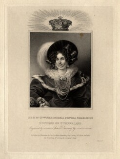 Frederica of Mecklenburg-Strelitz, Duchess of Cumberland and Queen of Hanover, by James Thomson (Thompson), published by  Whittaker & Co, after  Casimir Carbonnier - NPG D10834