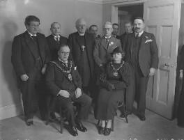 Sir John Mathewson Watson, his wife, (Frederick Sumpter) Guy Warman and seven others, by Lafayette - NPG x49961