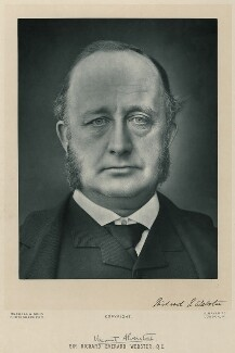 Richard Everard Webster, Viscount Alverstone, by James Russell & Sons, circa 1895 - NPG x50 - © National Portrait Gallery, London