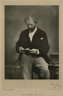 Sir (Thomas Henry) Hall Caine, by Walery, published by  Sampson Low & Co - NPG x5000