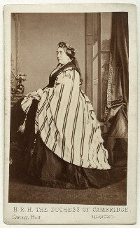 Princess Augusta Wilhelmina Louisa, Duchess of Cambridge, by Oliver François Xavier Sarony, 1864 - NPG x5029 - © National Portrait Gallery, London