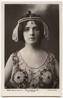 Maud Allan as Salome in 'The Vision of Salome', by Foulsham & Banfield, circa 1908 - NPG x5154 - © National Portrait Gallery, London
