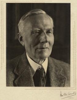 Herbert Albert Laurens Fisher, by Olive Edis - NPG x5193