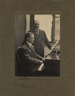 Charles Bennett; Ben Davies, by Olive Edis, and  Katharine Legat (née Edis) - NPG x5204