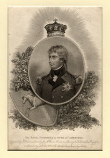 Prince Adolphus Frederick, Duke of Cambridge, by Edward Scriven, published by  J.B. Bell & Co - NPG D10832