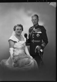 Sir John Wakeling Baker; Vera Evelyn (née Smith), Lady Baker, by Lenare - NPG x5238