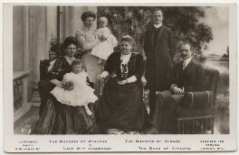 Princess Helen, Duchess of Albany with her family, by Vandyk, published by  J.J. Samuels Ltd - NPG x539