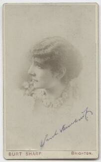 Sarah Bernhardt, by Napoleon Sarony, published by  Burt Sharp - NPG x5681
