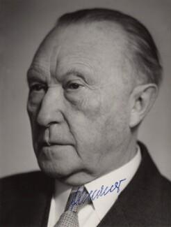 Konrad Adenauer, by Schafgans, 1960s - NPG x5778 - © reserved; collection National Portrait Gallery, London