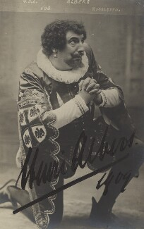 Henri Albers as 'Rigoletto', by Unknown photographer - NPG x5781