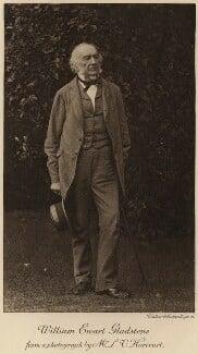 William Ewart Gladstone, by L.V. Harcourt, printed by  Walker & Cockerell - NPG x5970