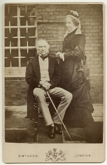 William Ewart Gladstone; Catherine Gladstone (née Glynne), by Archibald McLeod - NPG x5977