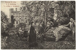 'The Late Rt. Hon. W.E. Gladstone Tree felling at Hawarden', after Samuel E. Poulton, (circa 1888) - NPG x5982 - © National Portrait Gallery, London