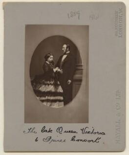 Queen Victoria; Prince Albert of Saxe-Coburg-Gotha, by John Jabez Edwin Mayall - NPG x6054