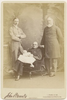 6th Earl of Albemarle with his son, the 7th Earl, his grandson the 8th Earl and his grandson the 9th Earl, by John Edwards - NPG x6072