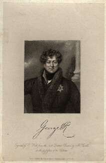 King George IV, by William Holl Sr, published by  Thomas Kelly, after  Abraham Wivell - NPG D10844