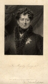 King George IV, by Henry Adlard, after  Abraham Wivell - NPG D10845