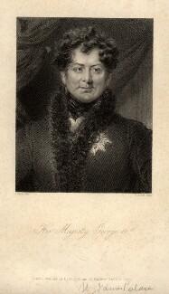 King George IV, by Henry Adlard, after  Abraham Wivell - NPG D10845