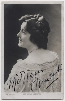 Miriam Clements, by The Biograph Studio, published by  Davidson Brothers - NPG x6163