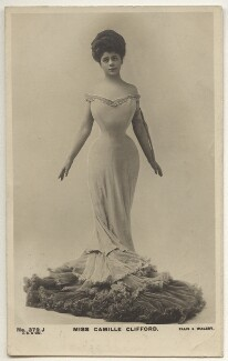 Camille Clifford (Camilla Antoinette Clifford), by Alfred Ellis & Walery, published by  J. Beagles & Co, circa 1905 - NPG x6169 - © National Portrait Gallery, London