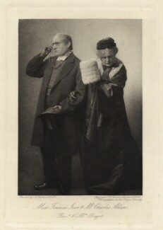 Charles Allan as Rev. Thomas Bagot; Frances Ivor as Mrs Bagot in 'Trilby', by Thomas Charles Turner, published by  J.S. Virtue & Co Ltd - NPG x6402