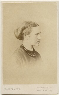 Elizabeth Garrett Anderson, by Elliott & Fry, 1860s - NPG x65 - © National Portrait Gallery, London