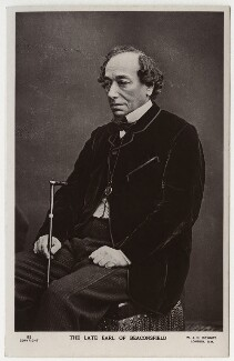Benjamin Disraeli, Earl of Beaconsfield, by W. & D. Downey - NPG x662